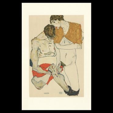 Egon Schiele, Lovers, 1913, Lithographie Schiele,
