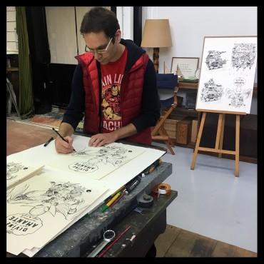 Poitevin Arnaud, Les Spectaculaires, Félix, Eustache et Evariste à l'atelier…