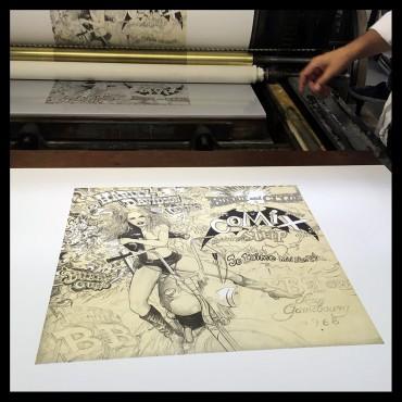 Denis Sire, BB, lithographie originale imprimée à 20 exemplaires
