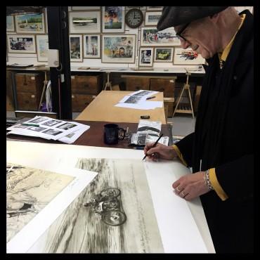 Denis Sire, Charlie Dalson, lithographie originale imprimée à 20 exemplaires