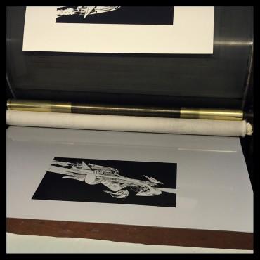 Denis Sire, Selby Motors, lithographie originale imprimée à 20 exemplaires