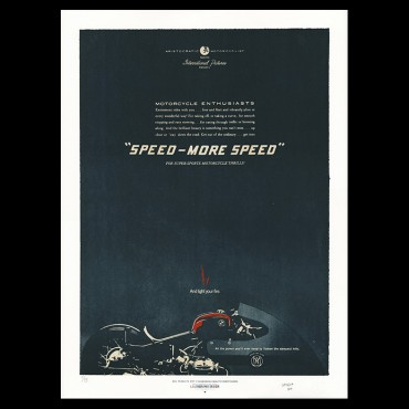"Lorenzo Eroticolor – BMW - ""Speed - More Speed"" - Lithographie - Affiche"