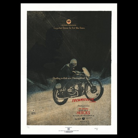"Lorenzo Eroticolor – HEROES - ""The Land of Phantoms"" - Lithographie - Affiche"