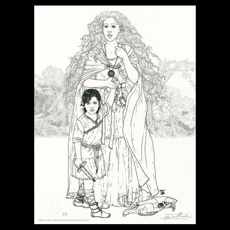 Lithographie, Complainte des Landes perdues, Béatrice Tillier, Flamina et décors