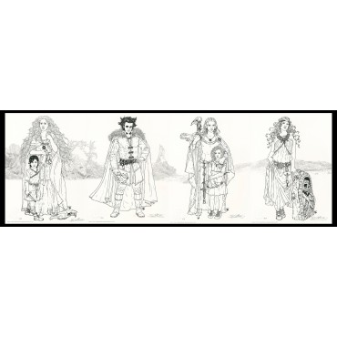 Lithographie, Complainte des Landes perdues, Béatrice Tillier, Tête Noire et décors