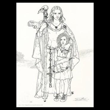Lithographie, Complainte des Landes perdues, Béatrice Tillier, Ceylan et décors