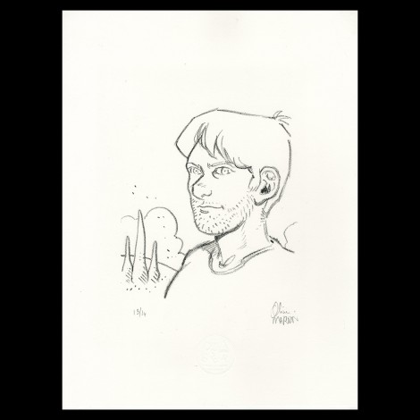 "Lithographie ""Vincent"" d'Olivier Martin"