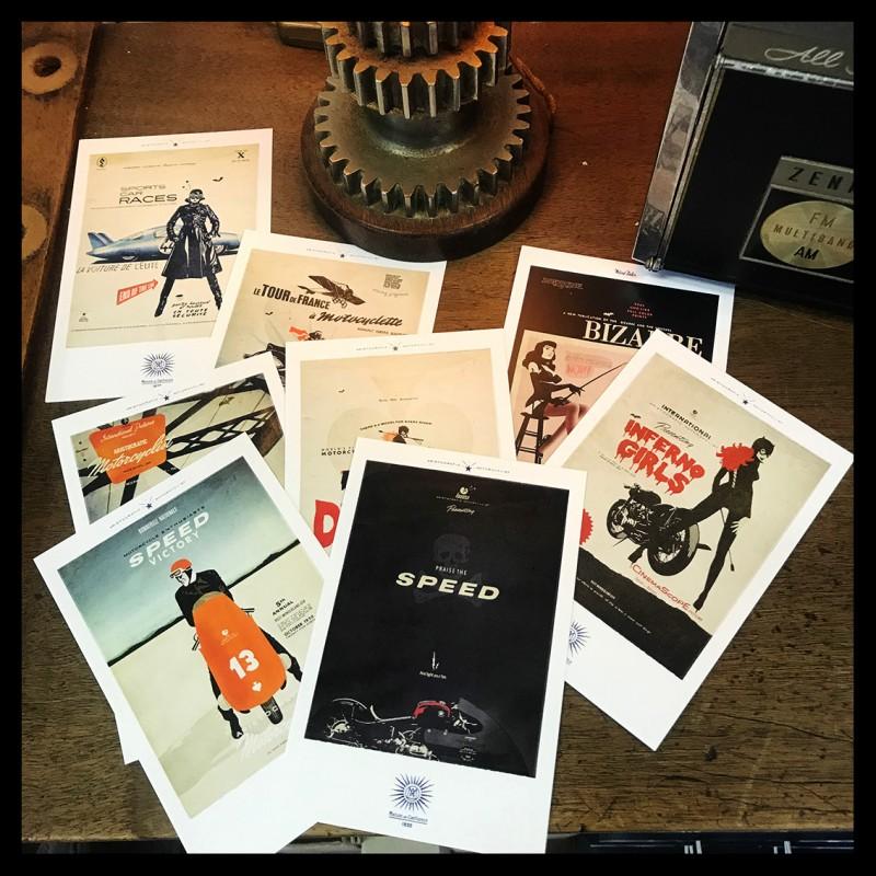 Pochette de 8 cartes postales by Lorenzo Eroticolor