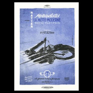"Lorenzo Eroticolor -  Ratier - ""La moto Moderne"""