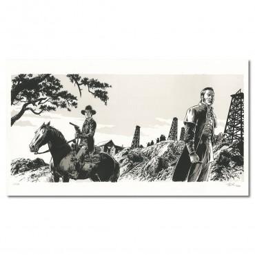 Le réveil du Tigre par Olivier TaDuc, lithographie 80x45 cm