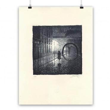 """Lithographie """"Madeleine, Résistante"""" par Dominique Bertail"""