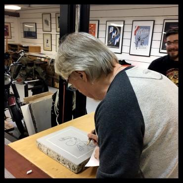 """Lithographie de """"Lucien"""" par Frank Margerin"""