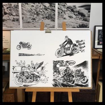 """Lithographie de Margerin Franck """"Café Racer"""""""