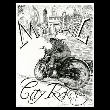 """Lithographie de Denis Sire """"Café Racer"""""""
