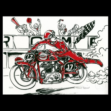 """Lithographie de Frank Tizzoni """"Café Racer"""""""