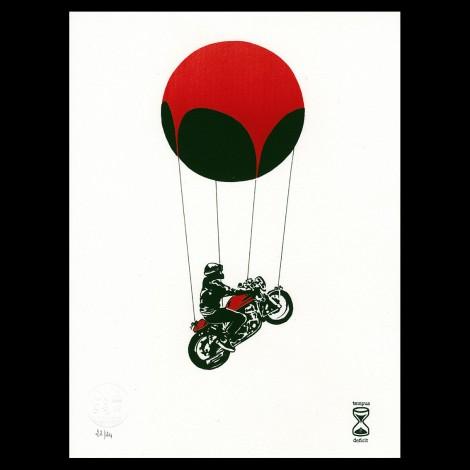 """Lithographie de Douglas Thompson """"Café Racer"""""""