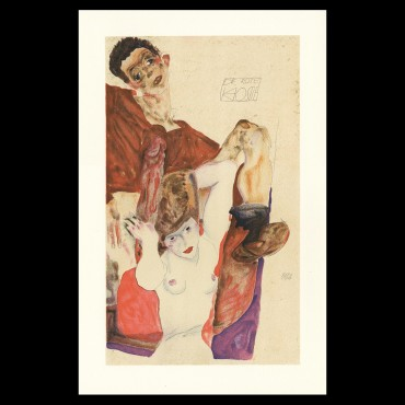 Egon Schiele, The Red Host, 1911, Lithographie Schiele, Egon Schiele