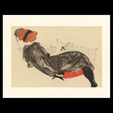 Egon Schiele, Reclinig Couple, 1912, Lithographie Schiele,